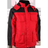Cheap Personalized Red windproof Winter Work Jackets in S M L XL XXL Size for sale