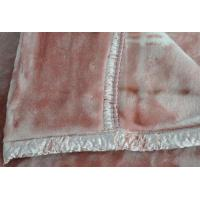 Cheap 100% Acrylic Soft Antistatic Blanket With Pink Double Printed for sale
