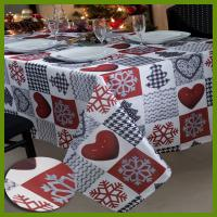 Cheap Hot selling Chrismas Snowflake n heat kids designs printed table decrational table cloths made of BSCI audited factory i for sale