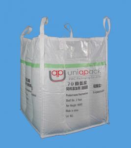 Cheap L-Lysine Industrial Bulk Bags , Q NET Baffle Plastic Woven Bags for sale