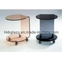 Cheap Colored Glass Furniture / Side Table / Corner Table for sale