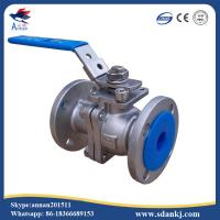 Cheap Lever operated 2pc stainless steel floating ball valve for sale