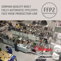 Cheap German-Quality Built FFP2 FFP3 Respirator Mask Machine Production Line for sale