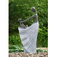 """Cheap Happy Moment Statue Water Fountains , 47"""" Handcrafted Garden Statue Fountains wholesale"""