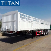Cheap Flatbed trailer with removable sides fence semi trailer for sale for sale