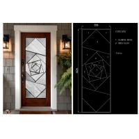 Buy cheap Clear / Coated / Stained Pattern Decorative Panel Glass 22
