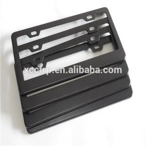 China 100% carbon fiber license plate frames US car carbon fiber license plate on sale