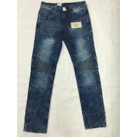 Cheap Womens Stripe High Waisted Straight Leg Jeans With Tapered Legs Casual Style for sale