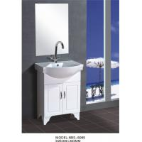 Cheap 60 X48X85/cm PVC stand bathroom cabinet / bathroom vanity / with mirror for bathroom for sale