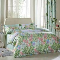 Cheap Luxury Beautiful Home Bedding Sets Twin Size / Queen Size Silk Material for sale