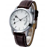 Cheap Analog Display Leather Band Quartz Watch for sale