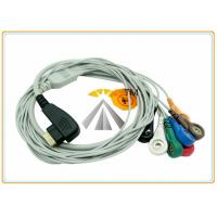 Buy cheap DMS 300 3A 5 / 7 Leads Holter Ecg Lead Wires Snap AHA IEC TPU Material 19 Pin Connector from wholesalers