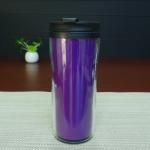 Cheap Double Wall 450ml Logo Custom Magic Mug , Heat Sensitive Plastic Mug for sale