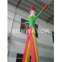 Cheap OEM Commercial Inflatable Air Dancer Printing Company Name With Triple Stitching for sale