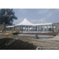 Cheap Custom Outdoor Tents For Events , Event Canopy Tent A Frame Combined With High Peak Shape wholesale