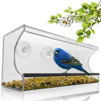 Cheap Birdscapes window bird feeder House shaped clear acrylic bird feeder for sale