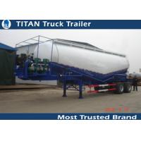 Cheap Two Axles 30cbm bulk cement trailer with diesel engine , semi trailer trucks for sale
