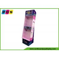 Corrugated POP Pegboard Display Stand With Display Base And Shinny Printing HD060