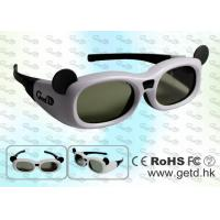 Cheap 3D Active Glasses with Universal Active Shutter, Wide Viewing Angle, IR Synchronization Operation for sale