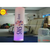 Cheap Decorative Inflatable Colourful  Lighting Pillar Tube With Digital Printing for sale