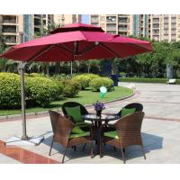 China Leisure Aluminium Outdoor Garden wicker chair Poly Rattan chair patio Backyard table and chairs on sale