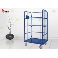 Cheap Warehouse Roll Container Trolley  / Metal Storage Cage With Wheel for sale