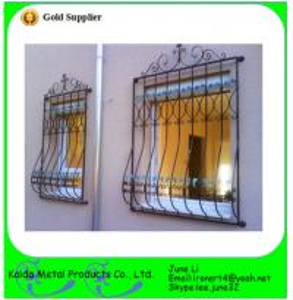 China wrought iron metal bar iron window grill design on sale