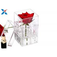 China Waterproof Acrylic Planter Box , Gifts Clear Acrylic Storage Boxes With Lid on sale