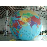 Custom 5m PVC Durable Inflatable Globe Ball Helium For Tade Show