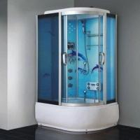 Cheap Shower Room with ABS Tray, Aluminum Alloy Frame and 5mm Tempered Glass for sale
