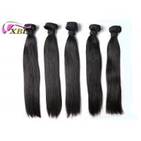 Cheap Soft And Smooth Straight Brazilian Virgin Hair Weft Natural Black Without Tangle for sale