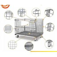European foldable wire mesh container steel wire mesh container for warehouse storage