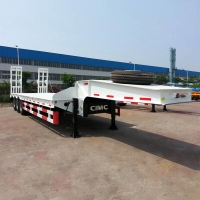 China CIMC Transformer 60T Step Deck Tri Axle Lowboy Trailer on sale