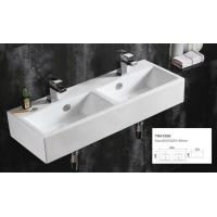 China Double wall mounted wash basin home depot ceramic cabinet basin vintage porcelain bathroom sink on sale