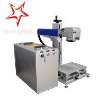 Cheap Blue 10W Fiber Laser Marking Machine , Pipe Laser Marking Engraving Machine for sale