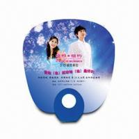 Cheap Hand Fan for Promotional Purposes, Made of PP, Customer's Logo Printings are Available for sale