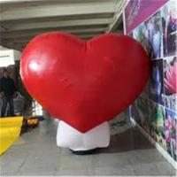 Cheap Standing LED Wedding Party Decoration Inflatable Advertising Products , Large Inflatable Red Heart for sale
