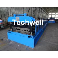 Cheap Roof Wall Panel Cold Roll Forming Machine / Roof Wall Cladding Roll Forming Machine With PLC Control System for sale