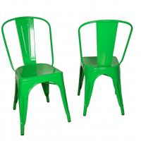 Cheap Stackable Marais Green Metal Tolix Chairs , Dining Tolix Cafe Chair for sale