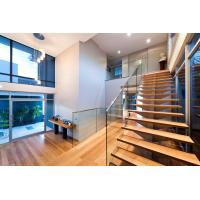 Cheap Stainless steel spigot glass railing/ glass balustrade with laminated glass panel for sale