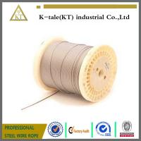 Cheap 1x19 automobile control custom galvanized steel wire cable manufacturer for sale