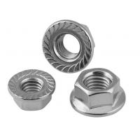 Cheap Serrated Flange Lock Screw Nut And Washer For Machinery , Zinc Plated Hex Flange Nut for sale