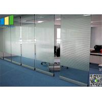 Cheap 10MM Folding Glass Room Movable Wall Panels With Sliding Door 500 / 1230mm Width for sale