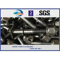 Cheap Square Head Railway Bolts With Oiled / Black Oxide BSW7/8''X150mm for sale