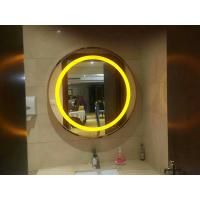 China 3000K Or 6000K Wall Mounted LED Strip Mirror / Round Oval Vanity Mirror With Lights on sale