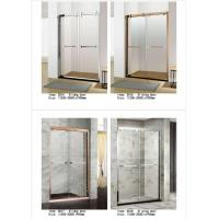 Cheap Two Panel Sliding Glass Shower Doors Glass Thickness 6mm With PVC Waterproof Strip for sale