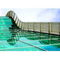 Cheap 6.38-25.52mm PVB Laminated Security Glass , Blue Laminated Architectural Glass for sale