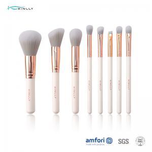 China 8pcs Women Aluminum Ferrule Face Makeup Brush Set on sale