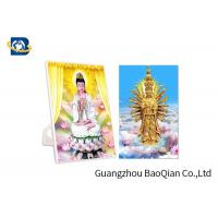 Cheap Pantone Color PP 3D Lenticular Postcards For Greeting / Buddhism Card for sale