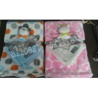 Cheap Printed Baby Blanket Coral Fleece and Nunu for sale